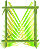 Bamboo frame Royalty Free Stock Image