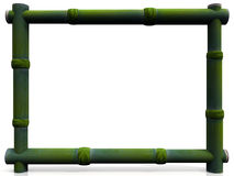 Bamboo frame. Rectangular frame in green bamboo Stock Image
