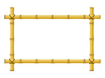 Bamboo Frame. An illustration of a Hawaiian style Tiki bar bamboo frame stock illustration