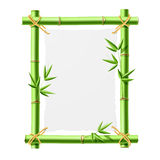 Bamboo frame with blank paper vector illustration