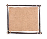 Bamboo frame with canvas. Stock Photography