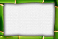 Bamboo frame with clouds illustration Royalty Free Stock Photos