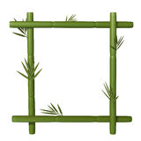 Bamboo frame. 3d illustration isolated on the white background Royalty Free Stock Photo