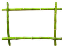 Bamboo frame made of stems Royalty Free Stock Image