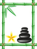 bamboo frame spa πέτρες zen Στοκ εικόνες με δικαίωμα ελεύθερης χρήσης