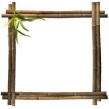 Bamboo frame square brown Stock Photography