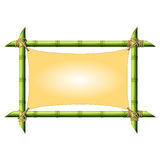 Bamboo frame with stretched canvas Vector Illustration