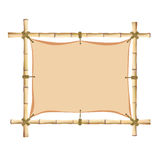Bamboo frame. Stock Images