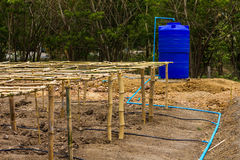 Bamboo frame with water storage Stock Images