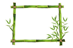 Bamboo frame for your message Stock Photo