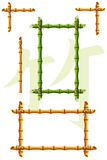 Bamboo frames Stock Photo