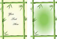 Bamboo frames. Two green bamboo frames for  abstract backgrounds Stock Photography