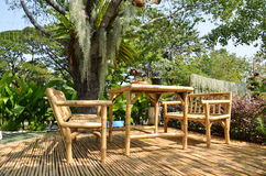 Bamboo furniture Stock Image