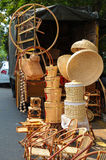 Bamboo furniture street side sales Stock Images