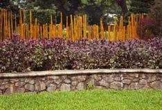 Bamboo garden fence Stock Photo