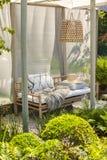 Bamboo garden furniture Stock Photos