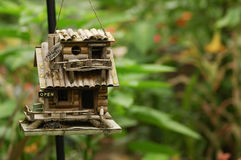 Bamboo garden house Royalty Free Stock Images