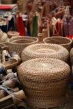 Bamboo garden seats Stock Photography