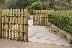 Bamboo gate Stock Images