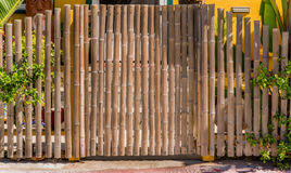 Bamboo gate. Nice bamboo fence and gate Stock Images