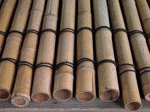 Bamboo girders. A bamboo girders structure used to cover the wells,in Japan Royalty Free Stock Image