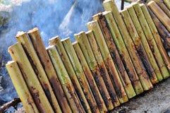 bamboo glutinous зажаренный в духовке рис соединений Стоковая Фотография
