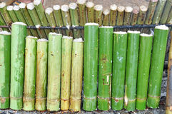 bamboo glutinous зажаренный в духовке рис соединений Стоковые Фото