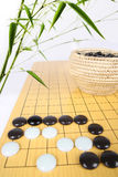 Bamboo and go. Traditional asian cultures, bamboo and the game of go stock photo