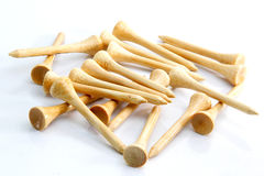 Bamboo golf tee Royalty Free Stock Photography