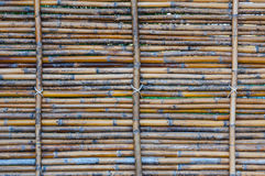 Bamboo half fence, nature texture for background Stock Photo