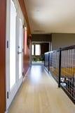 Bamboo hallway. Modern asian inspired hallway with bamboo floors royalty free stock photo