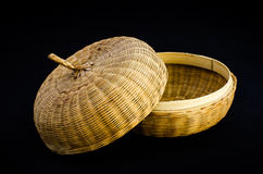 Bamboo handicraft casket Stock Photography