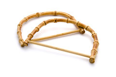 Bamboo handles for bag close up Stock Image