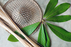 Bamboo Hat royalty free stock images