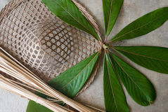 Bamboo Hat royalty free stock photos