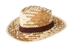 Bamboo hat. Weaving bamboo hat isolate on white background Royalty Free Stock Photography