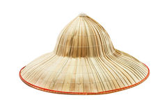 The bamboo hat on white isolate background. Stock Photo