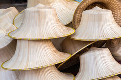 Bamboo hats craft. Royalty Free Stock Photography