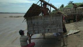 Bamboo house, mekong , cambodia, southeast asia Royalty Free Stock Photos