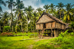Bamboo house in Palembe Stock Photos
