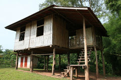 Bamboo Houses. North of Thailand Stock Photos