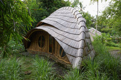 Bamboo hut in bali Royalty Free Stock Photo