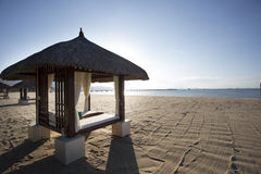 Bamboo hut on beach Stock Photo