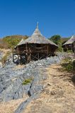 Bamboo Hut on the mountain Royalty Free Stock Photo