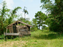 Bamboo hut of Muser hill tribe. Royalty Free Stock Photography