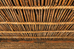 Bamboo Hut, part of a native dwelling in Thailand. Royalty Free Stock Photo