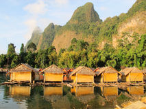 5 bamboo hut Stock Photography