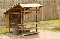Bamboo hut. Stock Photos