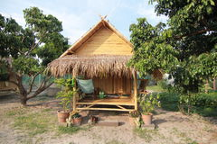 Bamboo Hut in Thailand Stock Photos