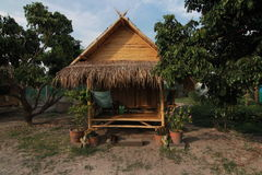 Bamboo Hut in Thailand Royalty Free Stock Photo